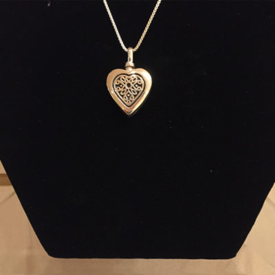Silver Filagree Heart