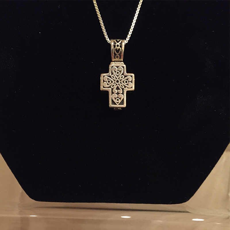 Silver filigree cross central savannah river crematory for Jewelry stores augusta ga
